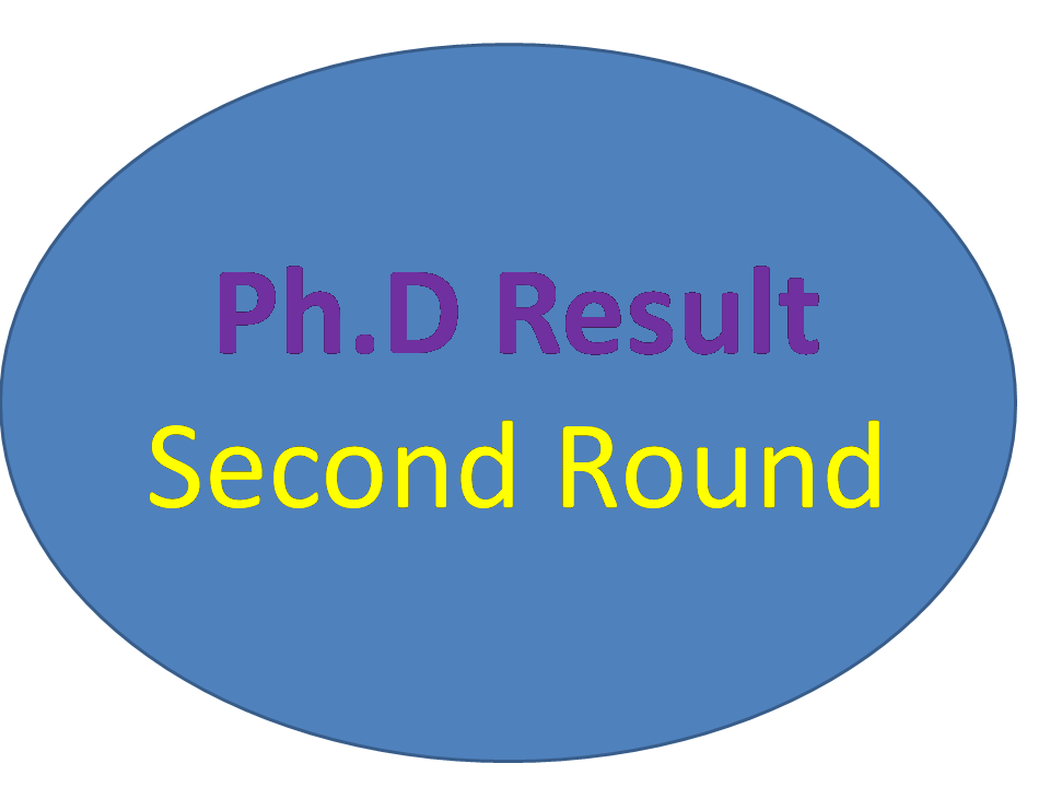 Ph.D. Result - Second Round